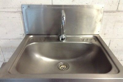 Commercial Cafe Restaurant S/Steel Hands Free Infra Red Tap Hand Wash Basin Sink