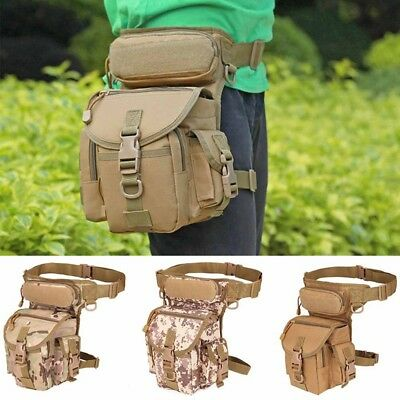 Tactical Waist Pack Drop Leg Bag Belt Military For Hiking Riding Outdoor Bag New