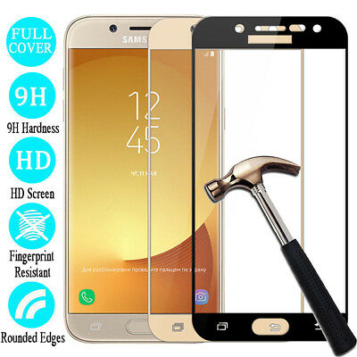 For Samsung Galaxy J2 J4 J6 J8 2018 Full Cover Tempered Glass Screen Protector