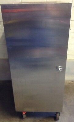 Commercial Kitchen Cafe Mobile Stainless Double Entry Food Transport Cabinet