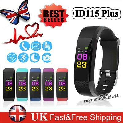 ID115Plus Smart Watch Fitness Activity Tracker Heart Rate Blood Pressure Monitor