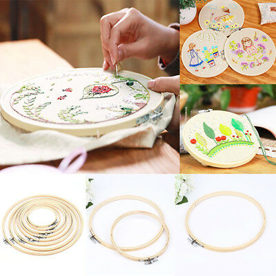 Embroidery Wooden Frame Hoop Ring Cross Stitch Sewing DIY Tool Art Bamboo Crafts