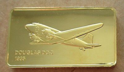 The Janes Medallic Register..douglas Dc-3  Usa 1935..Gold On Bronze