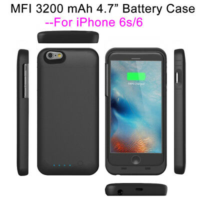 MFI 3200mAh Backup Battery Charger Case Cover External Power Slim For iPhone6/6s