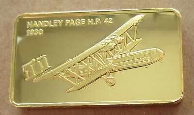 The Janes Medallic Register..handley Page H.p.42 1930..gold On Bronze