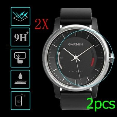 2x 9H Explosion-proof Tempered Glass Film Screen Protector For Garmin Fenix 3 HR