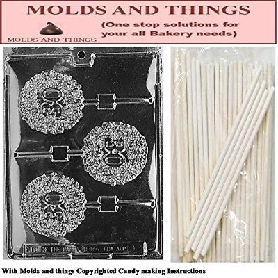 30TH Lolly numbers and letters Chocolate candy mould © Moulding Instruction+