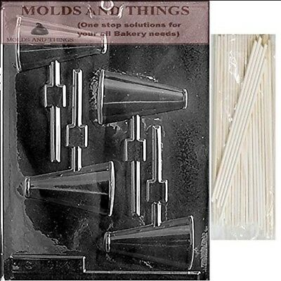 MEGAPHONE LOLLY Chocolate Candy Mould With © Moulding Instruction + 25