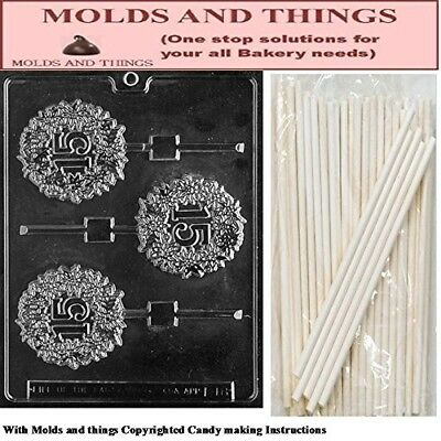 15TH Lolly numbers and letters Chocolate candy mould © Moulding Instruction+