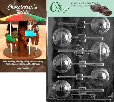 Cybrtrayd Basketball Lolly 3D Sports Chocolate Candy Mould with Chocolatier's