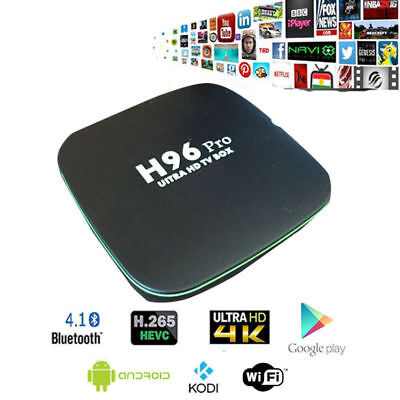 H96 SMART TV BOX ANDROID PRO Plus 4GB RAM 16GB ROM WIFI 4K PROFESSIONALE