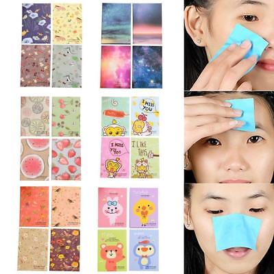 50 Sheets/Box Make Up Oil Absorbing Blotting Facial Face Clean Paper Beauty