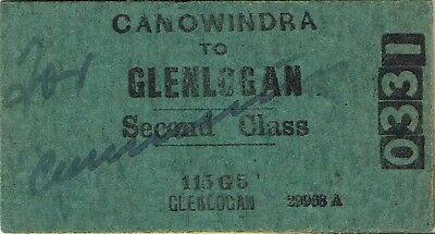 Railway tickets a trip from Canowindra to Glenlogan by the old NSWGR