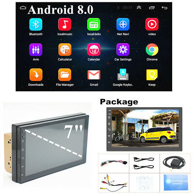 "Quad Core Android 8.0 WiFi 7"" 2DIN GPS Autoradio Bluetooth Stereo FM Mirror Link"