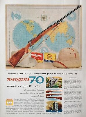 1958 Ad(Odl30)~Winchester Model 70 Rigle And Ammunition