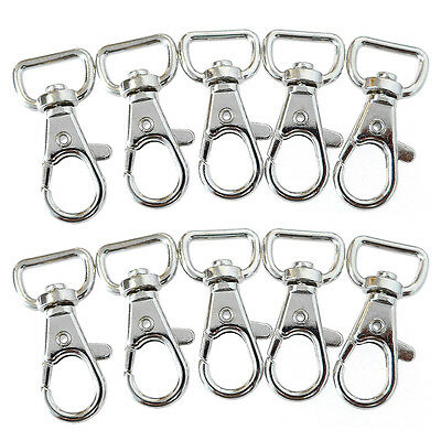 50pcs Zinc Alloy Silver Swivel Snap Lanyard Hooks Clasp Clips Key Chain Lot US