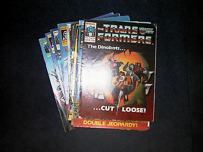 Rare early Transformers Comics from mid 80's to early 90's