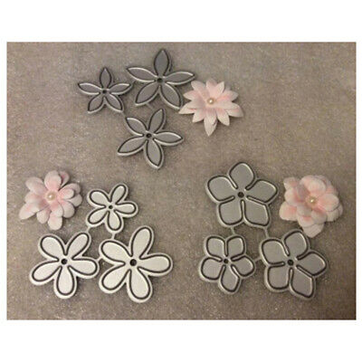 3pcs Small Flower Design Metal Cutting Die For DIY Scrapbooking Album Paper Card