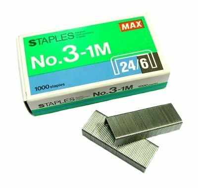 1000 QTY 24/6 No.3-1M Staples for Office Stapler Flat Clinch