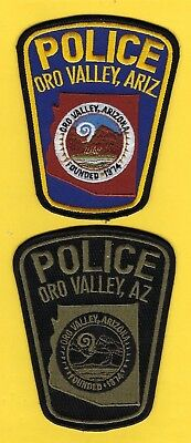 Oro Valley Police Department Patch Set ~ Arizona ~ Very Nice Artwork And Colors