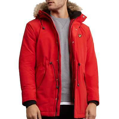 Lyle and Scott JK925V Winter Weight Parka Tomato Red