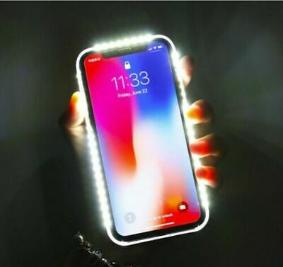 LED LIGHT UP Selfie Phone Case Cover For iPhone 5/6/7/8/X/XR/XS & Samsung Models