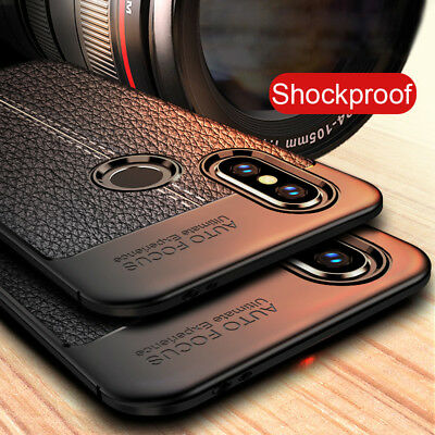 For Xiaomi Redmi 5 Plus Note 5 5A 4X Shockproof Soft TPU Leather Grain Back Case