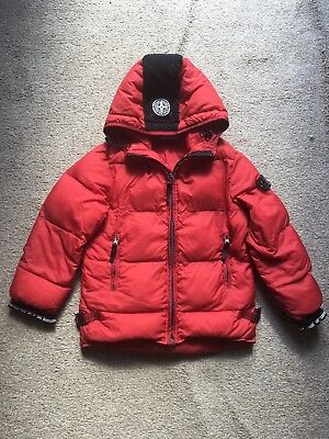 STONE ISLAND Goose Down lightweight hooded kids boys coat jacket age 8