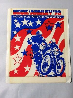 VINTAGE 1976 Original NOS BECK/ARNLEY Motorcycle Parts Sticker Decal Motocross