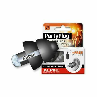 Alpine Party Plug Hearing Protection Earplugs (black)