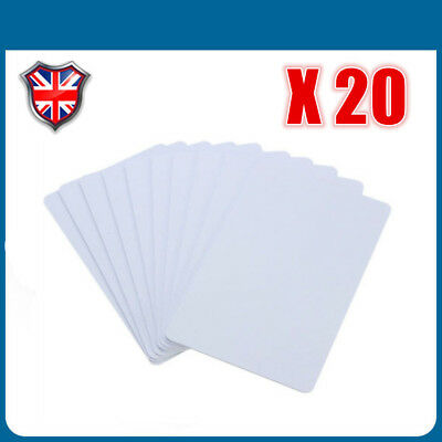 10 X NFC Tags NTAG 215 White Stickers 25mm Hard PVC Strong 3M 504