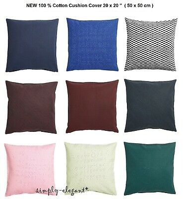 Cuscino Per Pc Ikea.Ikea Ypperlig Cushion Cover 20 X 20 Blue Green Pink Red Dots Lines Cotton New