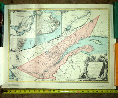"18"" x 24"" Map of Province of Quebec Canada In 1763*Montreal"