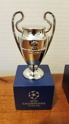 "UEFA Champions League Trophy Replica Metal Miniature 3"" with base SOLD OUT"