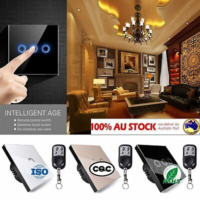 EU Panel Smart Touch Wall Light Switch 1/2/3 Gang 1/2/3 Way +RemoteST