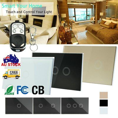 Smart Touch Gang 1 Way LED Crystal Glass Panel Light Touch ScreenST
