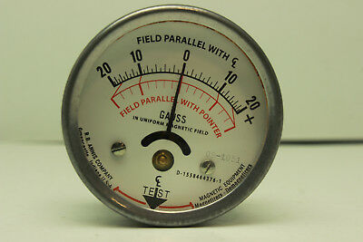 R.B Annis Calibrated Magnetometer Gauss Gage Field Indicator