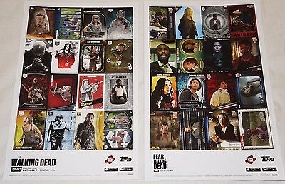 The Walking Dead Fear Topps Card Trader Nycc Limited Posters New York Comic Con