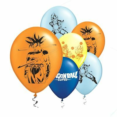 "6PCS 12"" DRAGON BALL GOKU Latex Balloons Birthday Party Decoration Kids Party"