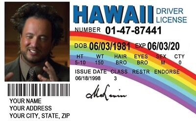 McLovin Fogles Fake ID Movie Superbad WITH YOUR IMAGE & INFORMATION High Quality