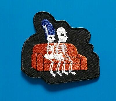 THE SIMPSONS  SKELETON COUPLE 3. Inch  Iron Or Sewn On Patch  Free Ship