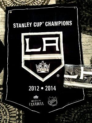 2018  Molson Canadian  Stanley Cup Champions Banner Los Angeles Kings