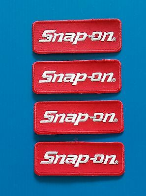 4  SNAP ON TOOLS 3. x 1. Inch Embrodered Iron Or Sewn On Patches Free Ship