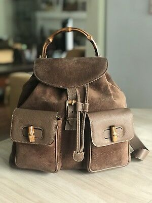 Vintage Gucci Leather Suede Backpack
