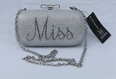 e8f2ef97b01 INC International Concepts Evie Miss Mrs Glitter Clutch Bridal Wedding  Handbag