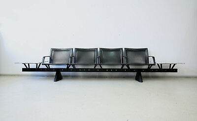 Matteo Grassi Wartebank Leder Marmor Airport Seating System Leather Bench Marble