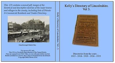Gainsborough.Lincolnshire. Kelly Directories of Lincolnshire. Vol – 3.