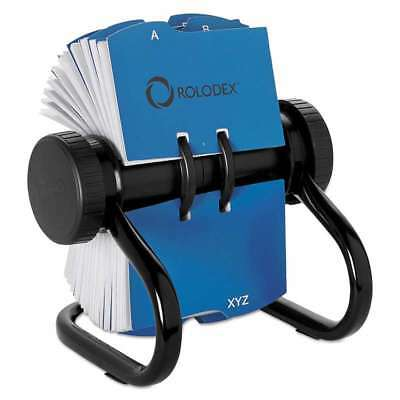 Rolodex Open Rotary Business Card File w/24 Guides, Black 071912672364