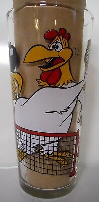 VINTAGE! 1976 Pepsi Interaction Series Foghorn Leghorn and Henery Glass-Tennis