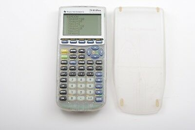 Texas Instruments TI-83 Plus Silver Edition Graphing Calculator Clear with Cover